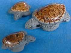 Sea Turtles-Brown Shell, Gray Body  big-32 mm; small-22 mm