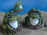 Light Green Whimsy Frogs